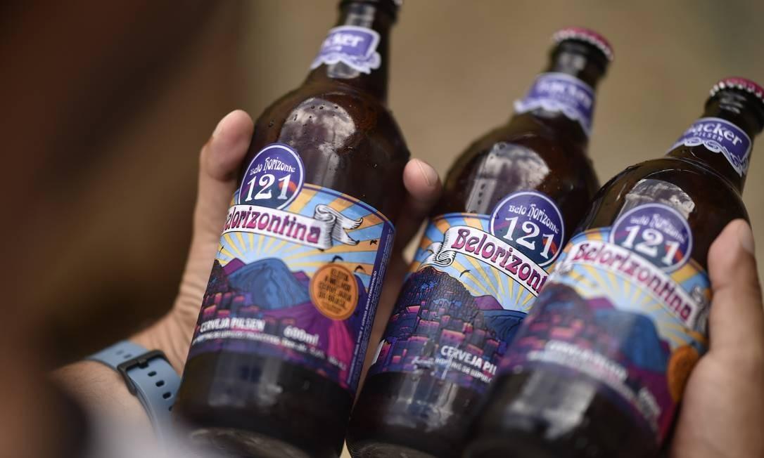 Belorizontina foi a primeira cerveja identificada com o dietilenoglicol. Foto: Douglas Magno / AFP