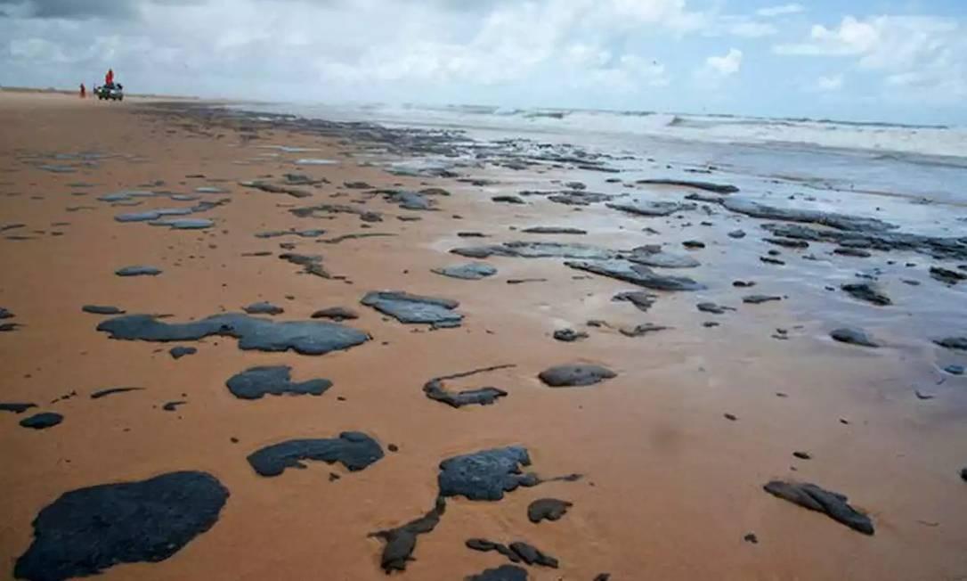 A praia de Ponta dos Mangues, no município de Pacatuba, em Sergipe, é uma das localidades contaminadas Foto: Brenda Dantas / Agência O Globo