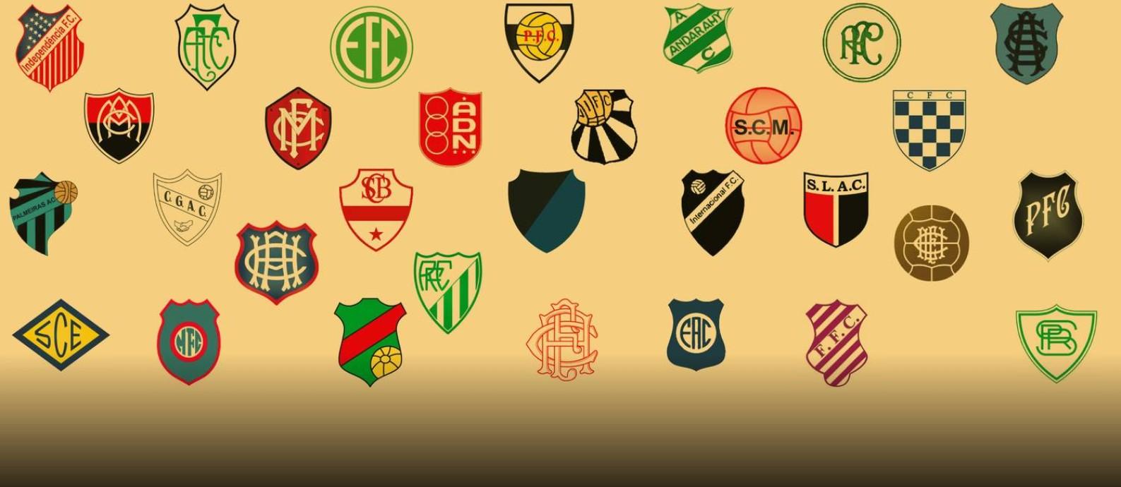 Os 30 clubes que jogaram a elite do Carioca e foram extintos Foto: Editoria de Arte