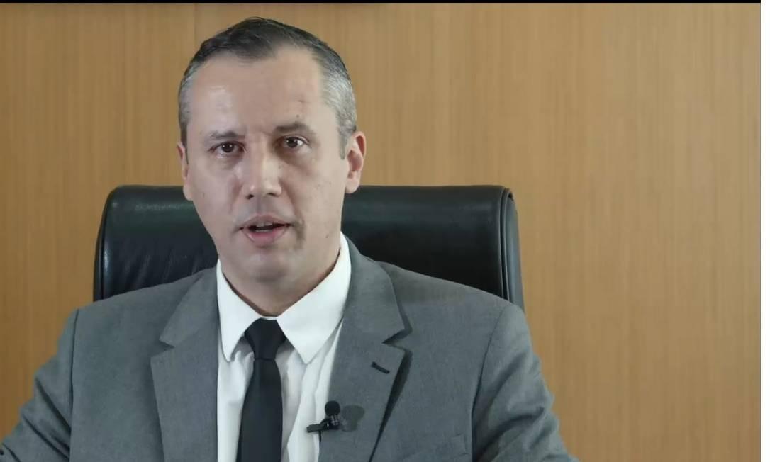 O secretário de Cultura, Roberto Alvim, em vídeo com referências nazistas Foto: Reprodução