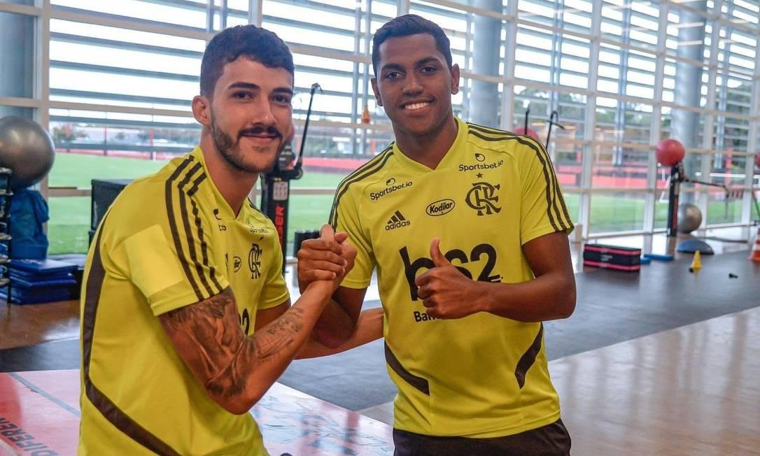 Flamengo apresentará Gustavo Henrique e Pedro Rocha antes da partida contra o Macaé Foto: Alexandre Vidal/Flamengo