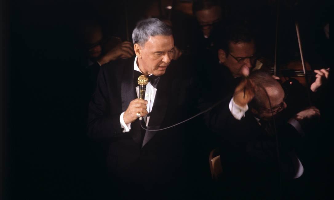 Frank Sinatra em show realizado no Brasil em janeiro de 1980 Foto: Anibal Philot / Agência O Globo