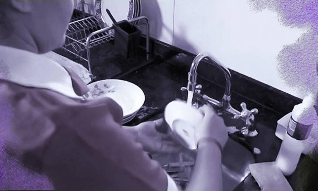 Mulheres são maioria entre empregados domésticos Foto: Editoria de arte