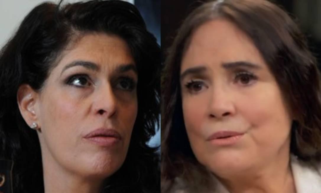 Paula Lavigne e Regina Duarte Foto: Leo Pinheiro/Valor e reprodução/Globoplay