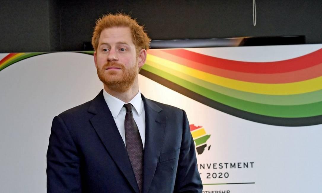 Príncipe Harry, durante cúpula de investimentos Reino Unido-África Foto: POOL New / REUTERS / 20-01-2020