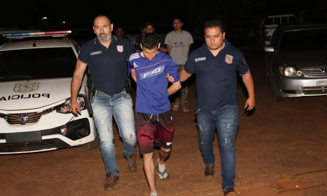 Um dos presos recapturados na noite desta segunda-feira pela polícia do Paraguai Foto: Divulgação/Ministério do Interior do Paraguai