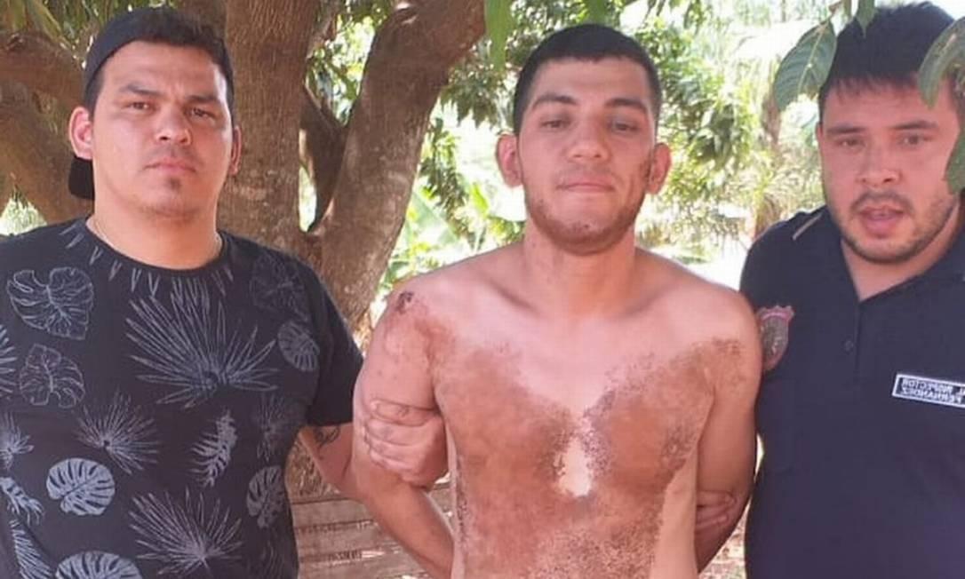 Preso recapturada pela polícia paraguaia Foto: Divulgação/Ministério do Interior do Paraguai