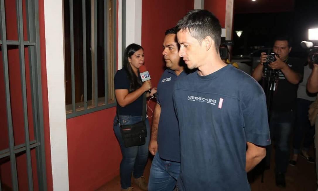 Preso que fugiu de penitenciária no Paraguai é recapturado pela polícia Foto: Divulgação/Ministério do Interior do Paraguai