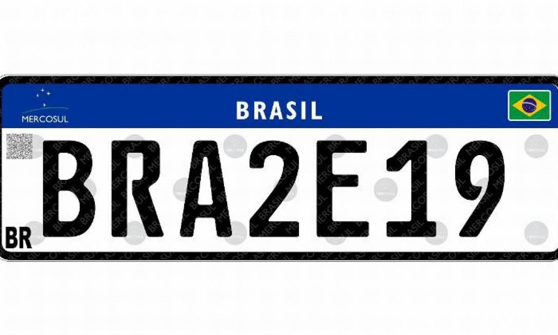 Placa do modelo Mercosul Foto: Divulgação