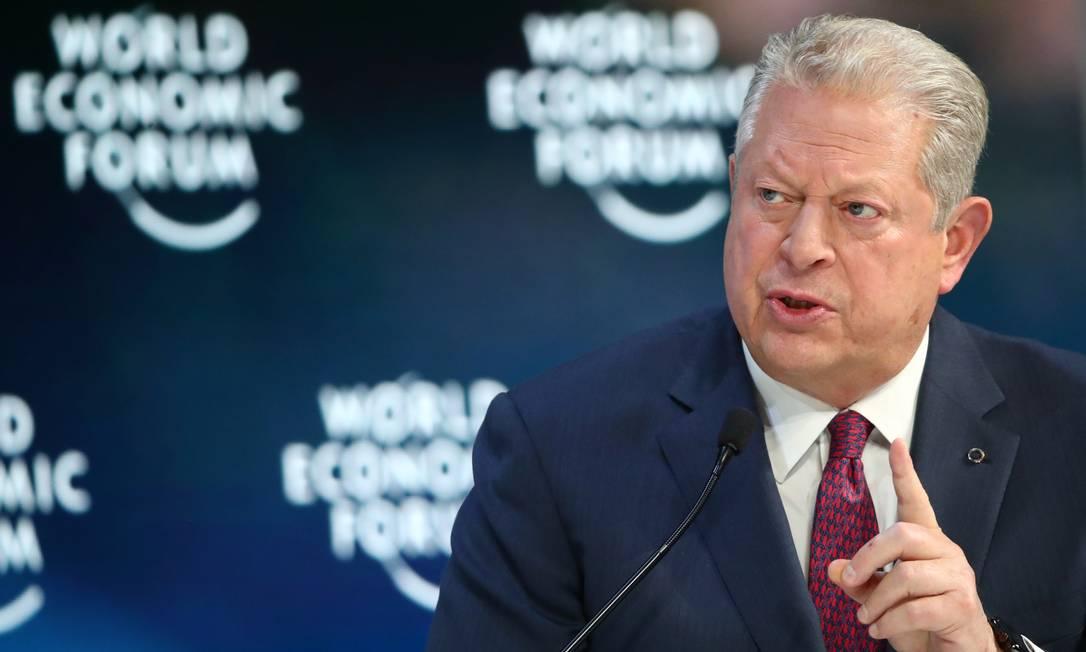 O ex-vice-presidente dos EUA Al Gore Foto: Denis Balibouse / Reuters