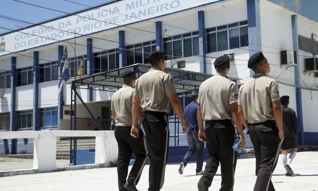Rio tem escola militar, como a da PM, em Niterói, mas não há lei para modelo cívico-militar Foto: Fábio Guimarães / Agência O Globo