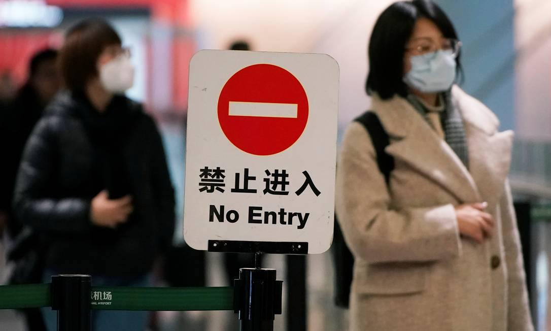 Crise. Na China, surto de pneumonia provocada pelo coronavírus causa comoção Foto: REUTERS