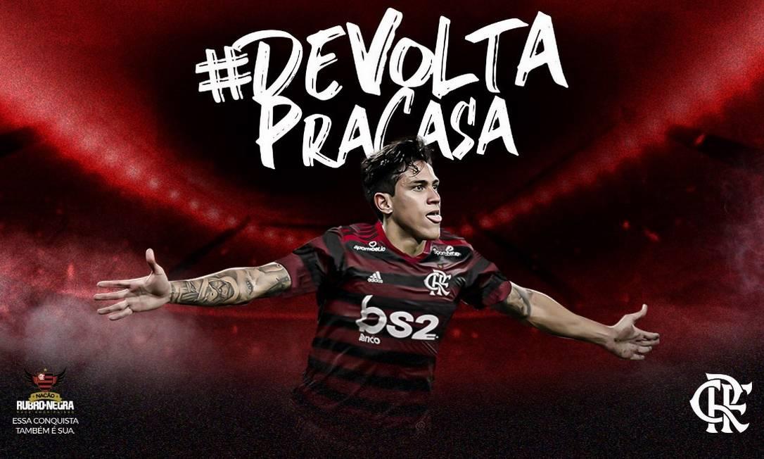 Flamengo anuncia oficialmente a contratação de Pedro Foto: Divulgação