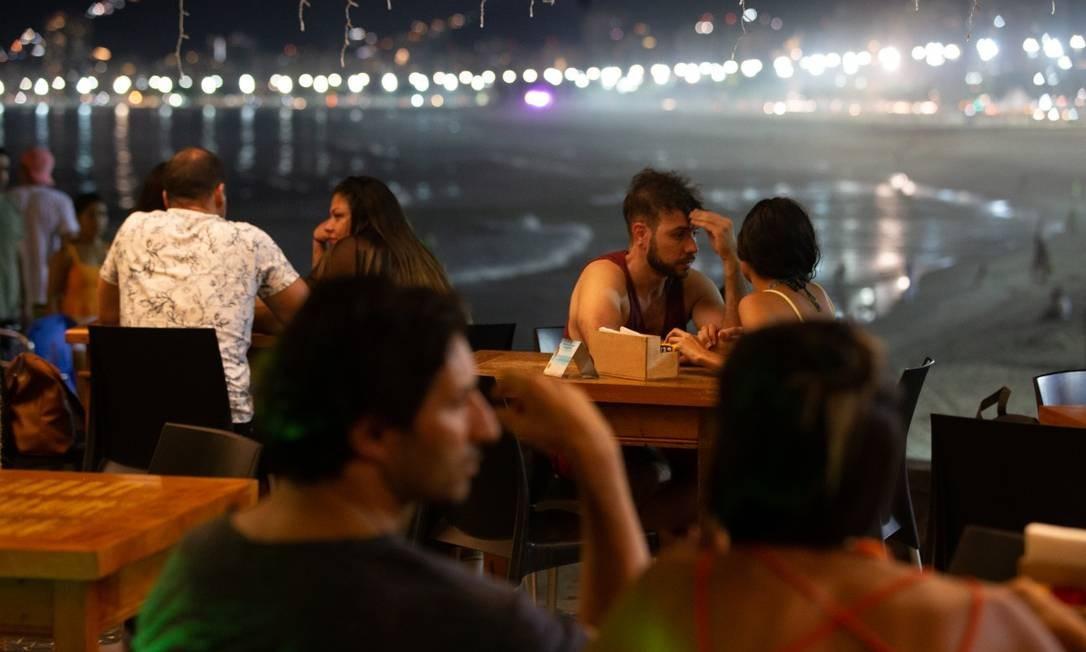 Mureta: vista para as praias do Leme e de Copacabana Foto: Roberto Moreyra / Agência O Globo