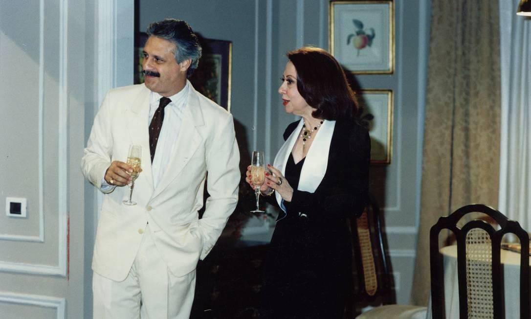 Antonio Fagundes e Fernanda Montenegro em O dono do mundo (1991) Foto: TV Globo