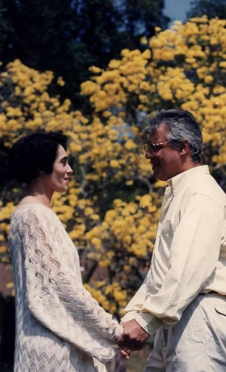 Antonio Fagundes e Christiane Torloni em A viagem, de 1994. O casal Otávio e Diná viveu um amor além da vida Foto: Marcos André Pinto / TV Globo