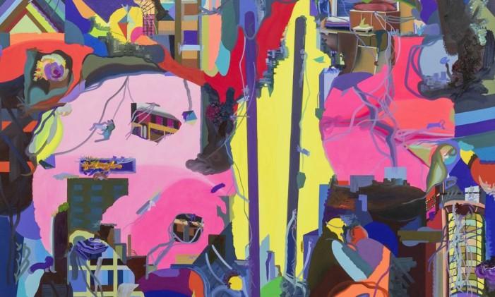 """Tela de Franz Ackermann em """"Cities in dust"""", em cartaz na Carpintaria Foto: Pat Kilgore / Divulgação"""
