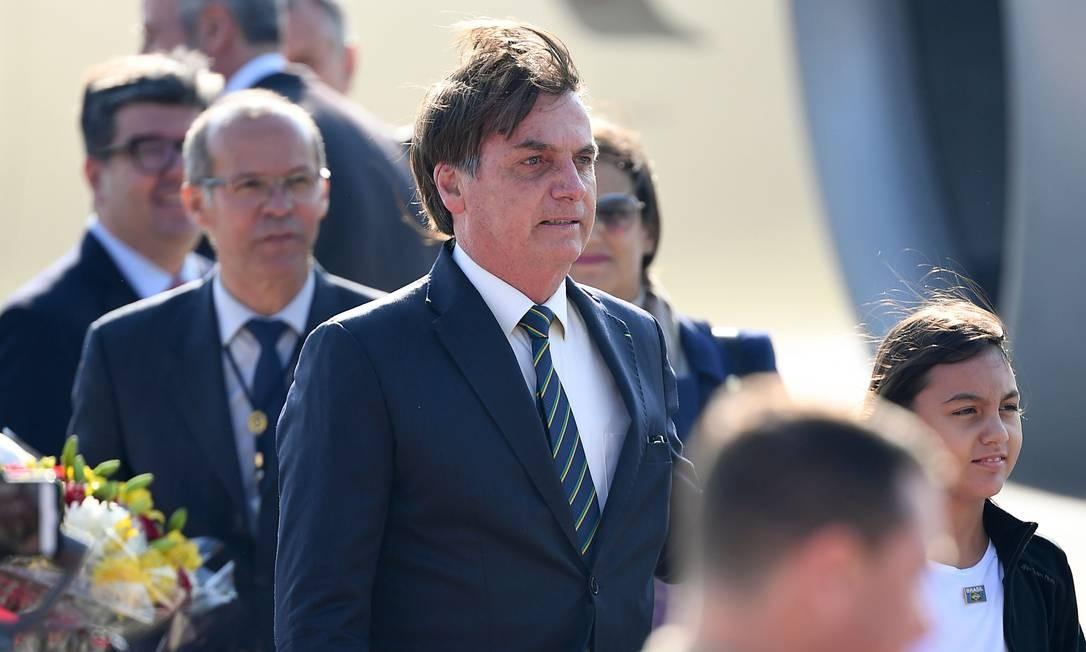 Presidente Jair Bolsonaro anunciou recuou na intenção de recriar Ministério da Segurança Pública ao desembarcar na Índia Foto: PRAKASH SINGH / AFP