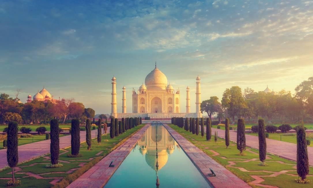 O Taj Mahal, um dos mais conhecidos monumentos da Índia Foto: Peter Zelei Images / Getty Images