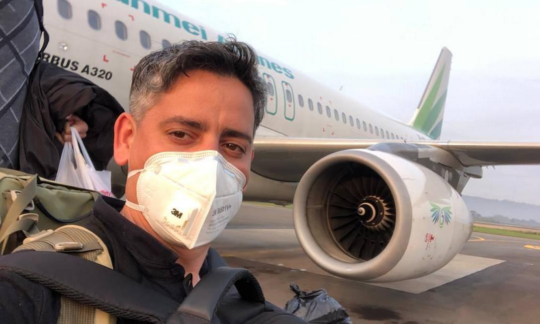 José Renato Peneluppi embarcou para Camboja para fugir de coronavírus Foto: Reprodução