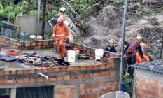 Tres pessoas morrem em desabamento de casa em Ibirite por conta da chuva Foto: Uarlen Valerio / O Tempo/ Agência O Globo