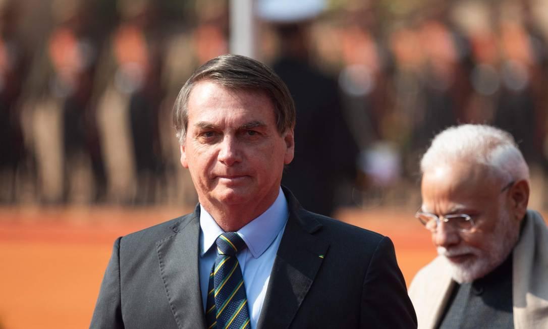 Bolsonaro está em Nova Délhi, onde faz uma visita de estado de três dias à Índia. Foto: JEWEL SAMAD / AFP