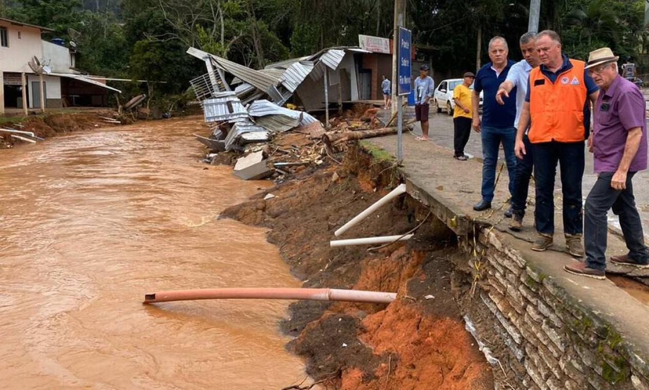 Chuva castiga o estado desde 17 de janeiro Foto: Divulgação / Governo do Estado do ES