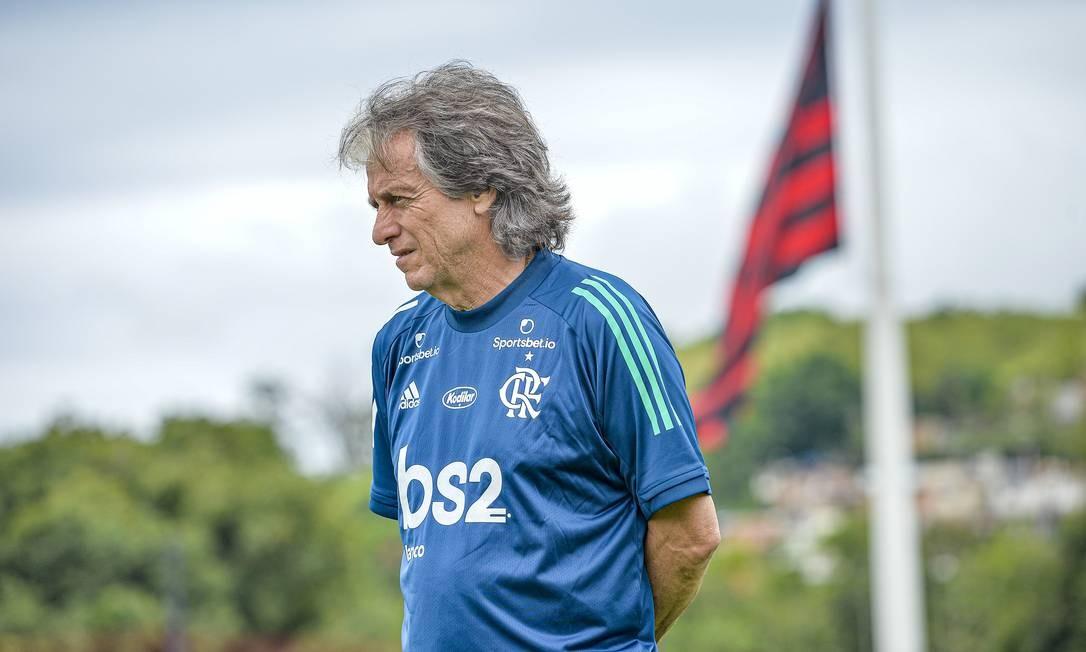 Jorge Jesus recomeça trabalho com mudanças no time principalção no clube Foto: Divulgação / Divulgação