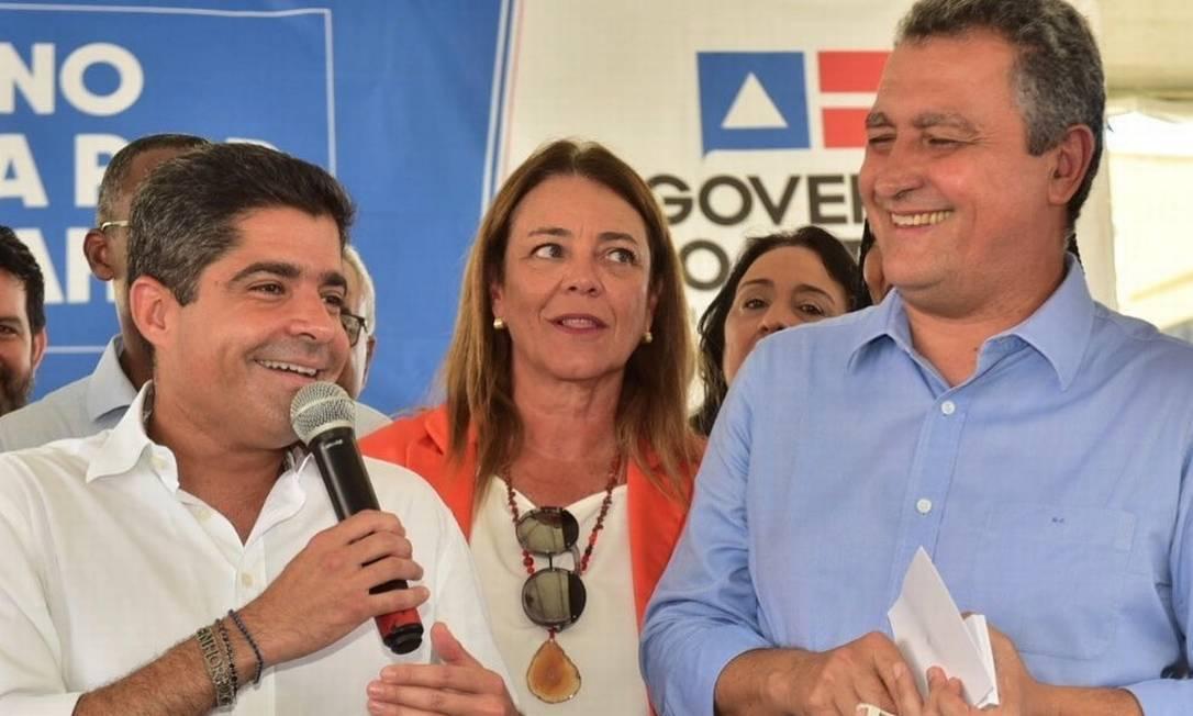 ACM Neto, à esquerda na foto, e Rui Costa: prefeito de Salvador indicou seu vice à sucessão, enquanto governador ainda não decidiu apoio dentro de sua base Foto: Reprodução/Facebook