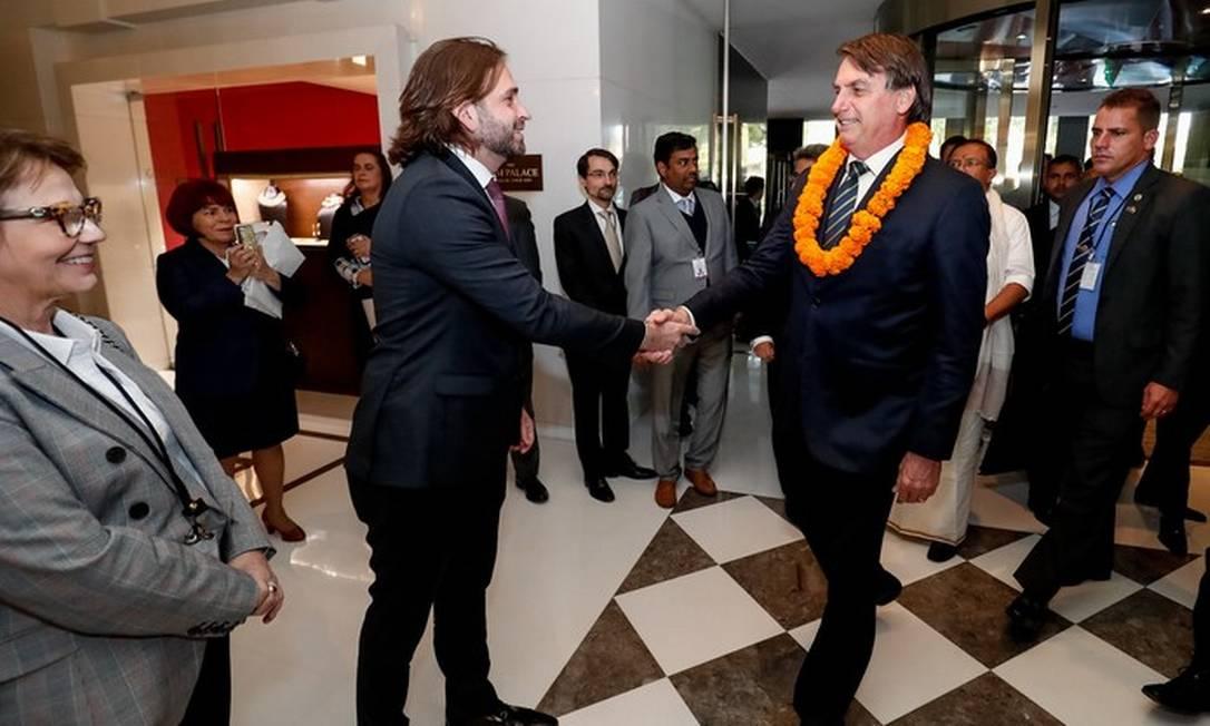 Vicente Santini e Jair BolsonaroA Foto: Alan Santos/PR