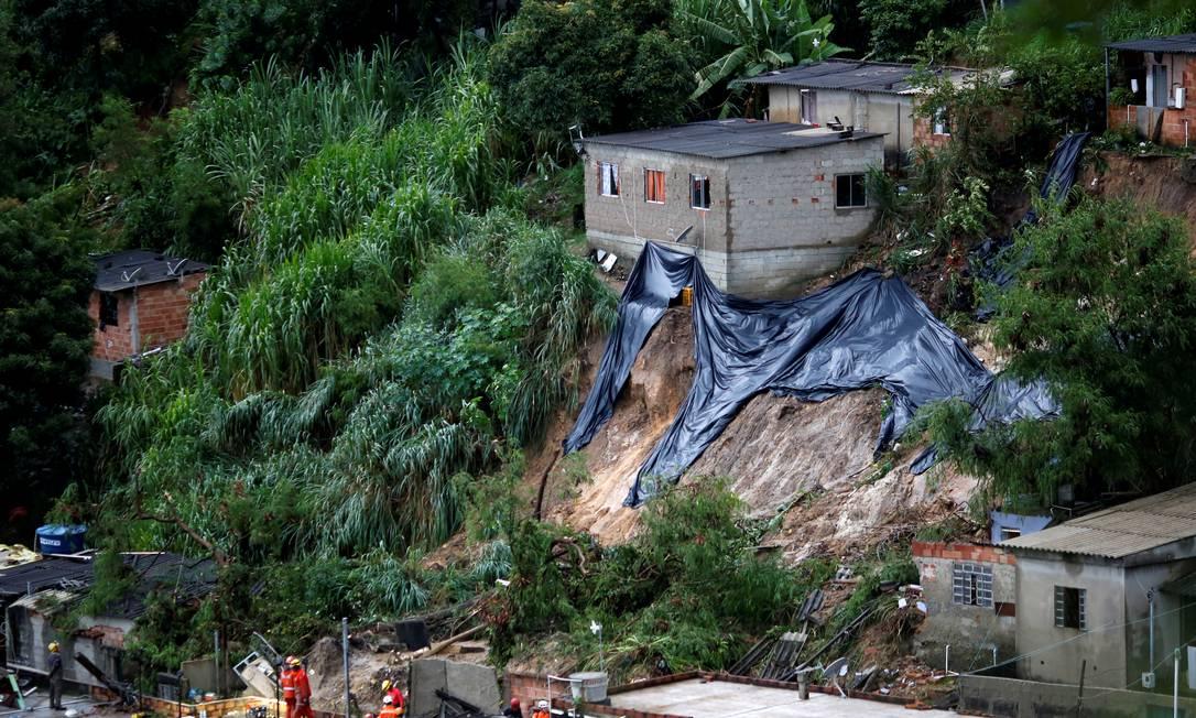Chuva causa deslizamentos e estragos em Belo Horizonte Foto: Cristiane Mattos / Reuters