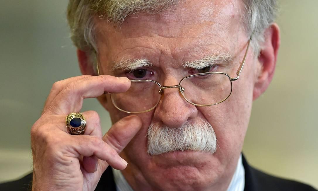 Ex-conselheiro de Segurança Nacional da Casa Branca, John Bolton, em seus últimos dias no cargo, em agosto de 2019 Foto: SERGEI GAPON / AFP