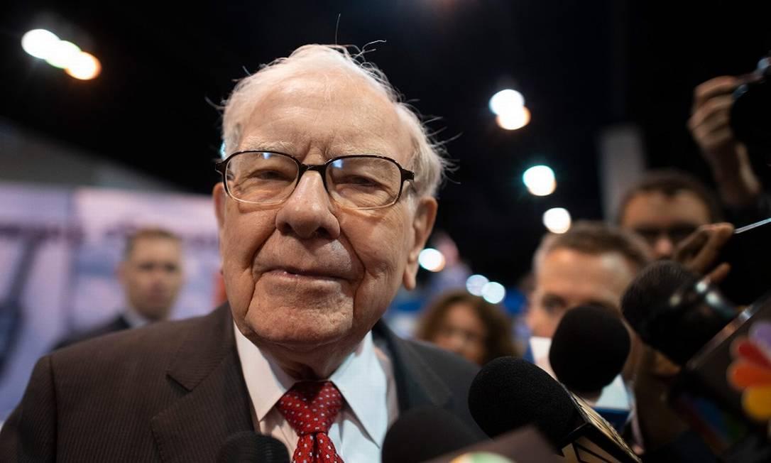 O investidor Warren Buffett. Foto: Johannes Eisele / AFP