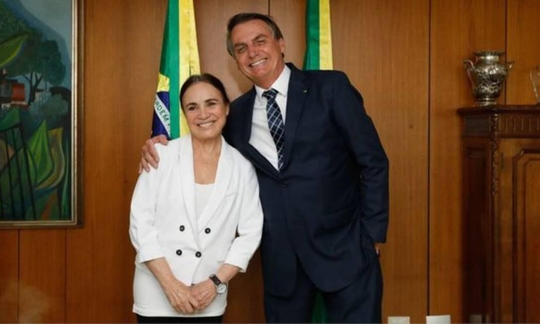A atriz Regina Duarte aceitou o convite do presidente Jair Bolsonaro e assumirá pasta da Cultura Foto: CAROLINA NUNES/PR