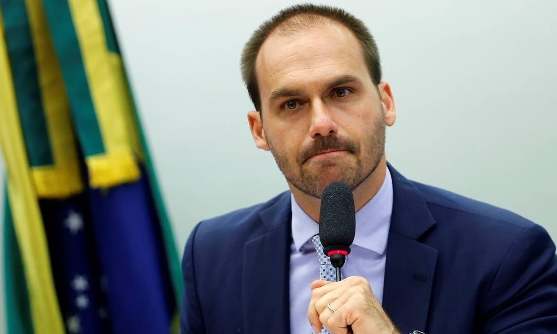 O deputado Eduardo Bolsonaro Foto: Adriano Machado/Reuters