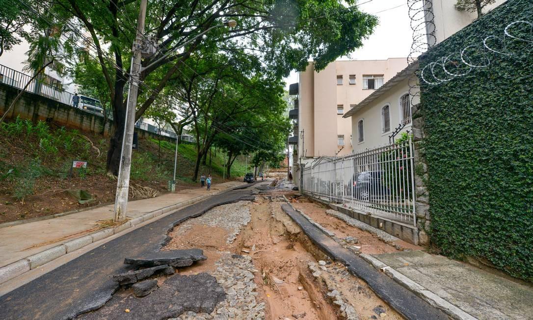 DEPOIS: Rua João Junqueira, no bairro Santo Antônio, em Belo Horizonte Foto: Fred Magno / O Tempo / Agência O Globo