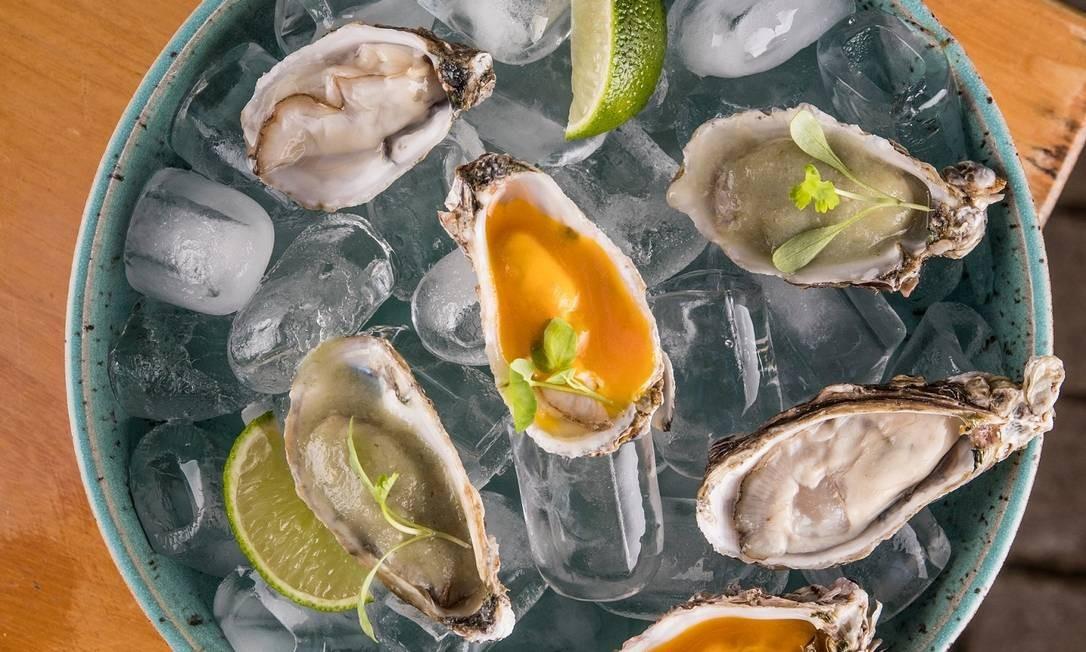 Aji: ostras molho de ají Foto: Divulgação/Tomas Rangel