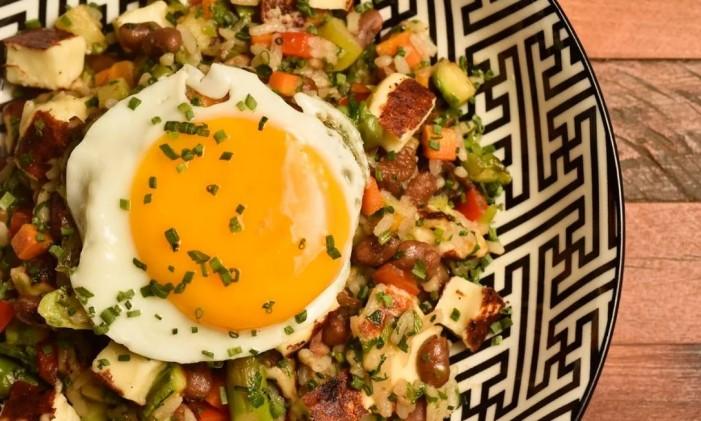 Caju Gastrobar: baião de dois vegetariano Foto: Divulgação/Bruno de Lima