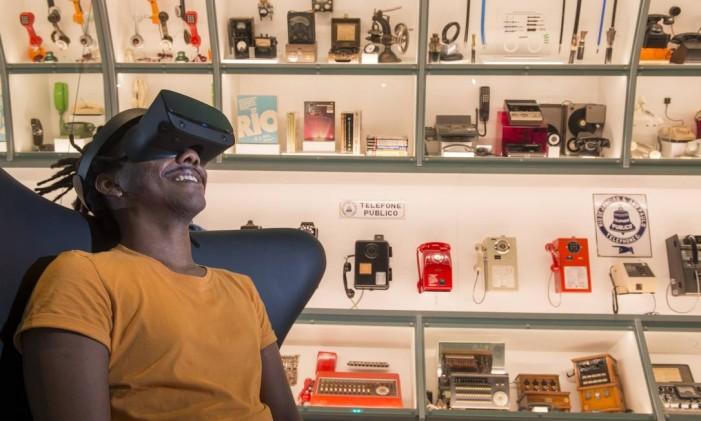 MUSEHUM, no Oi Futuro: ambiente imersivo, experiência em realidade virtual e mais de 400 objetos expostos Foto: Renata Mello / Divulgação