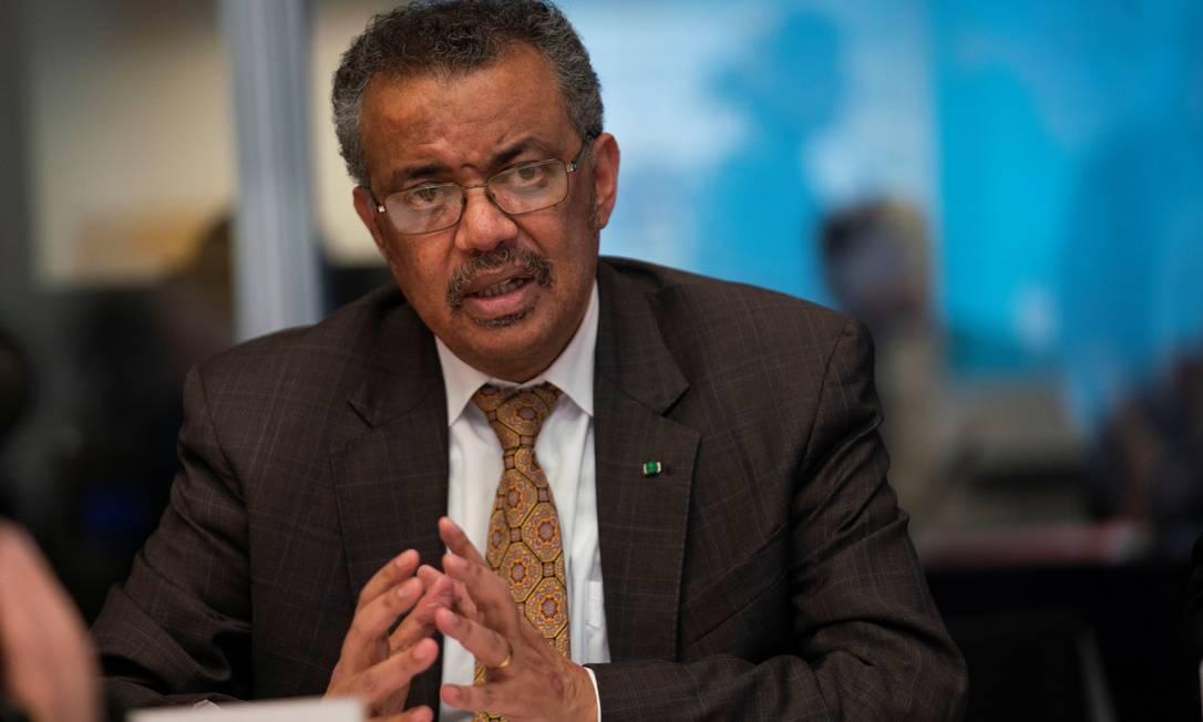 O diretor-geral da OMS, Tedros Adhanom Ghebreyesus Foto: Christopher Black/WHO / via REUTERS