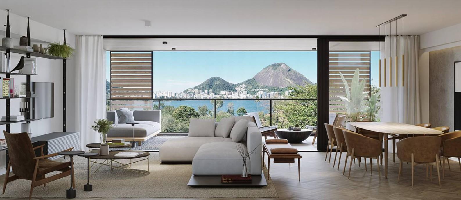 Todos os apartamentos do OKA Residence Lagoa são de frente para uma paisagem de tirar o fôlego Foto: Divulgação/RJZ Cyrela