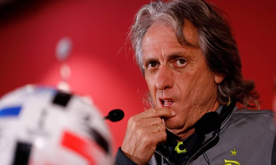 Jorge Jesus levou o Flamengo aos títulos brasileiro e da Libertadores em 2019 Foto: Corinna Kern / Reuters