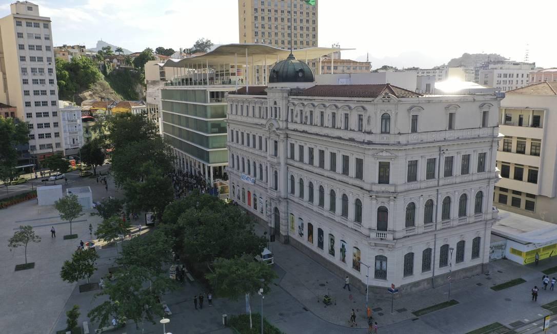 Fachada do MAR, o Museu de Arte do Rio Foto: Gabriel Monteiro / O Globo
