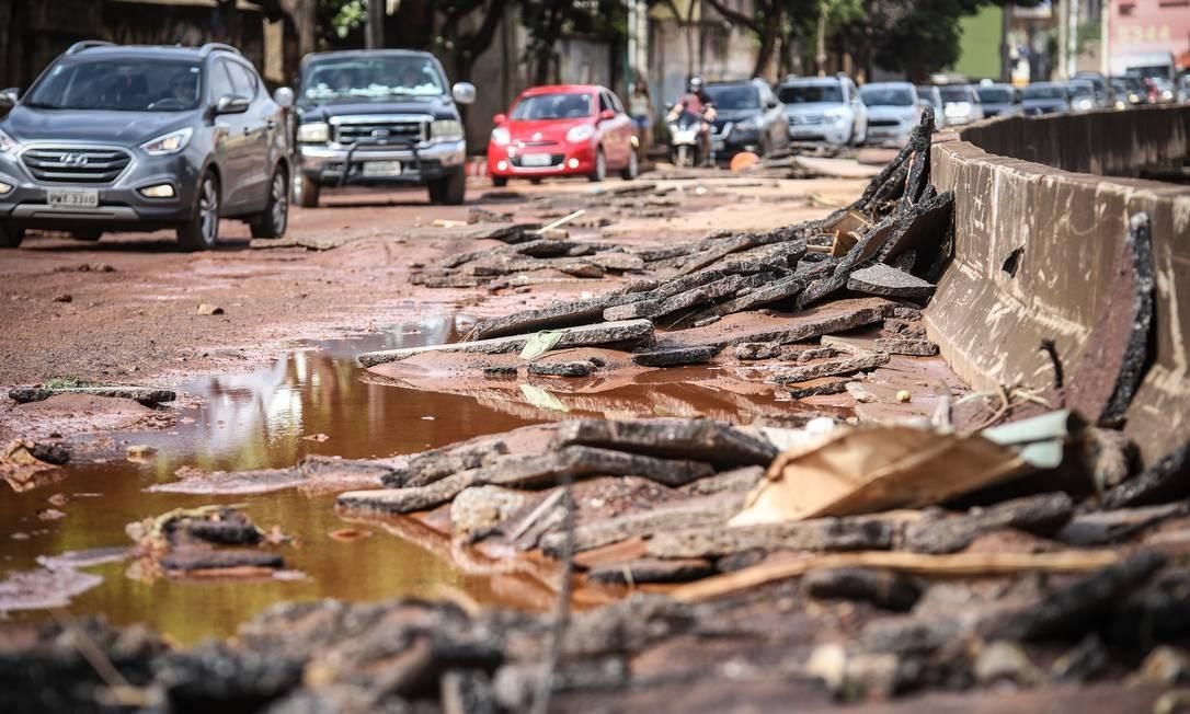 Estragos causados pelas fortes chuvas que atingem a cidade de Belo Horizonte Foto: Brazil PhotoPress / RAFAEL COSTA