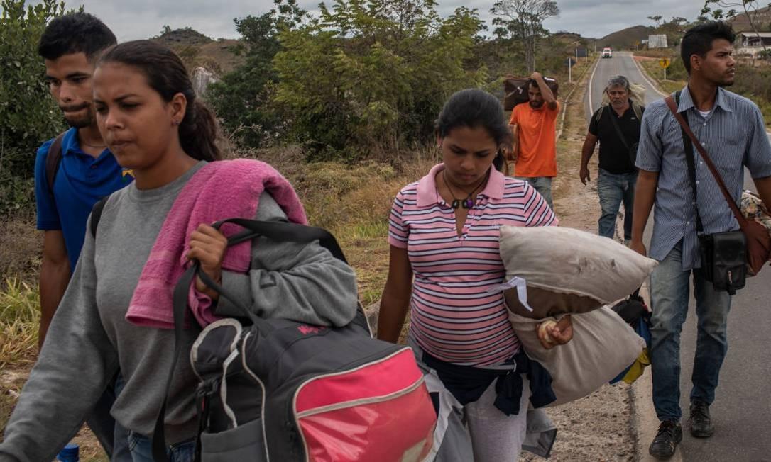 Venezuelanos em Boa Vista, em Roraima Foto: Victor Moriyama / Getty Images