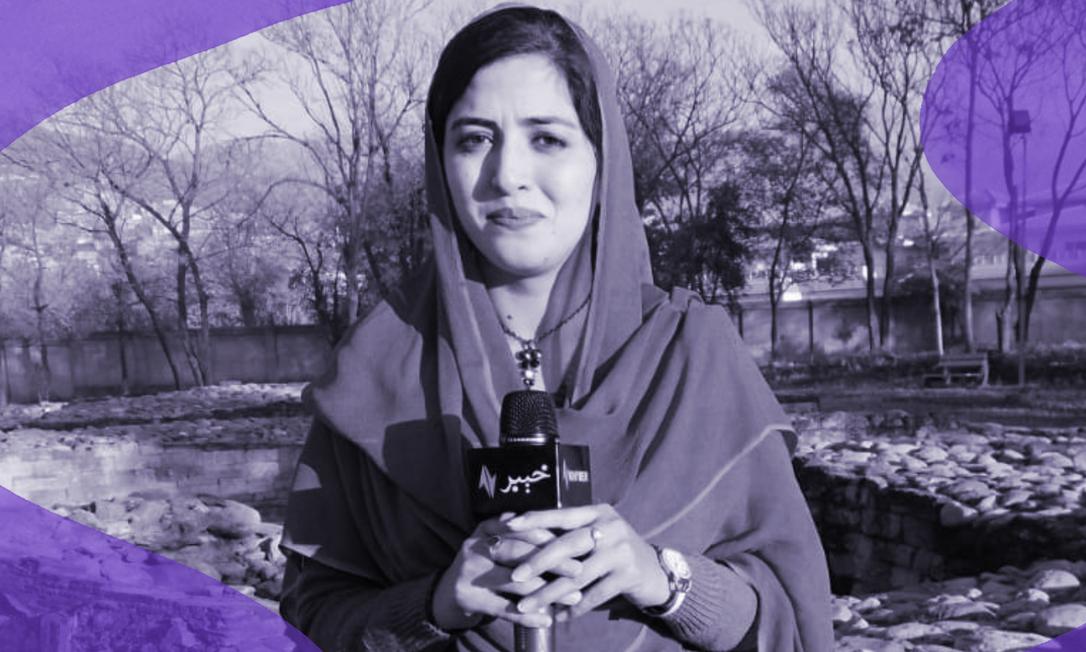Shaísta Hakim é a primeira e única mulher jornalista do Vale do Swat, no Paquistão Foto: Arquivo pessoal