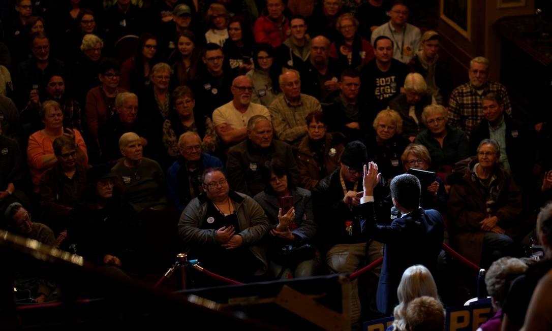 O candidato Pete Buttigieg participa de evento de campanha em Iowa Foto: Rick Wilcking / REUTERS / 31-01-2019