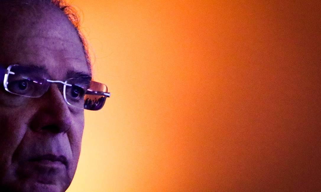 O Ministro da Economia, Paulo Guedes, em evento em SP Foto: Aloisio Mauricio / Agência O Globo