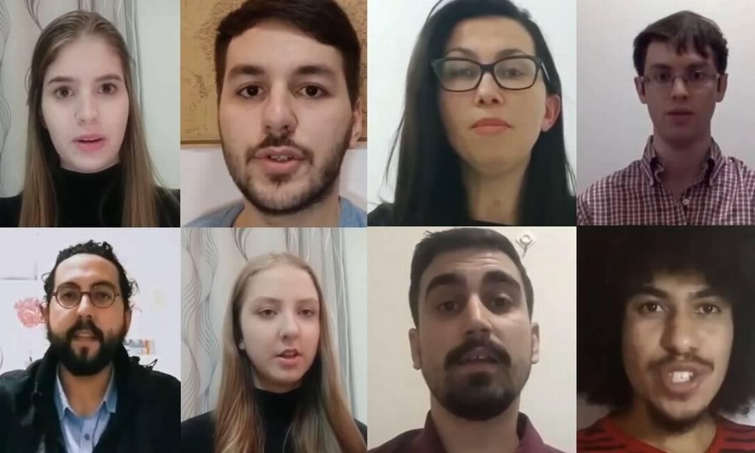 Brasileiros na China fizeram vídeo pedindo que governo os retire de país afetado pelo surto do coronavírus Foto: Reprodução/YouTube via BBC