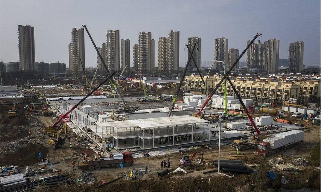 Hospital em Wuhan foi construído em tempo recorde Foto: Getty Images